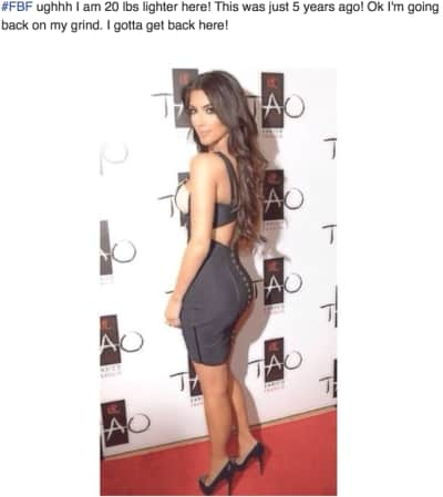Kim Kardashian Facebook Photo