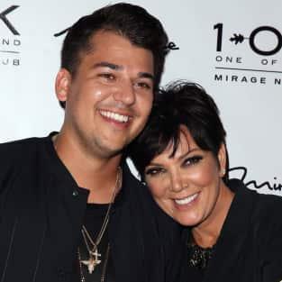 Kris Jenner with Rob Kardashian