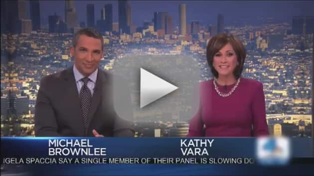 Los Angeles Newscasters React to Cold