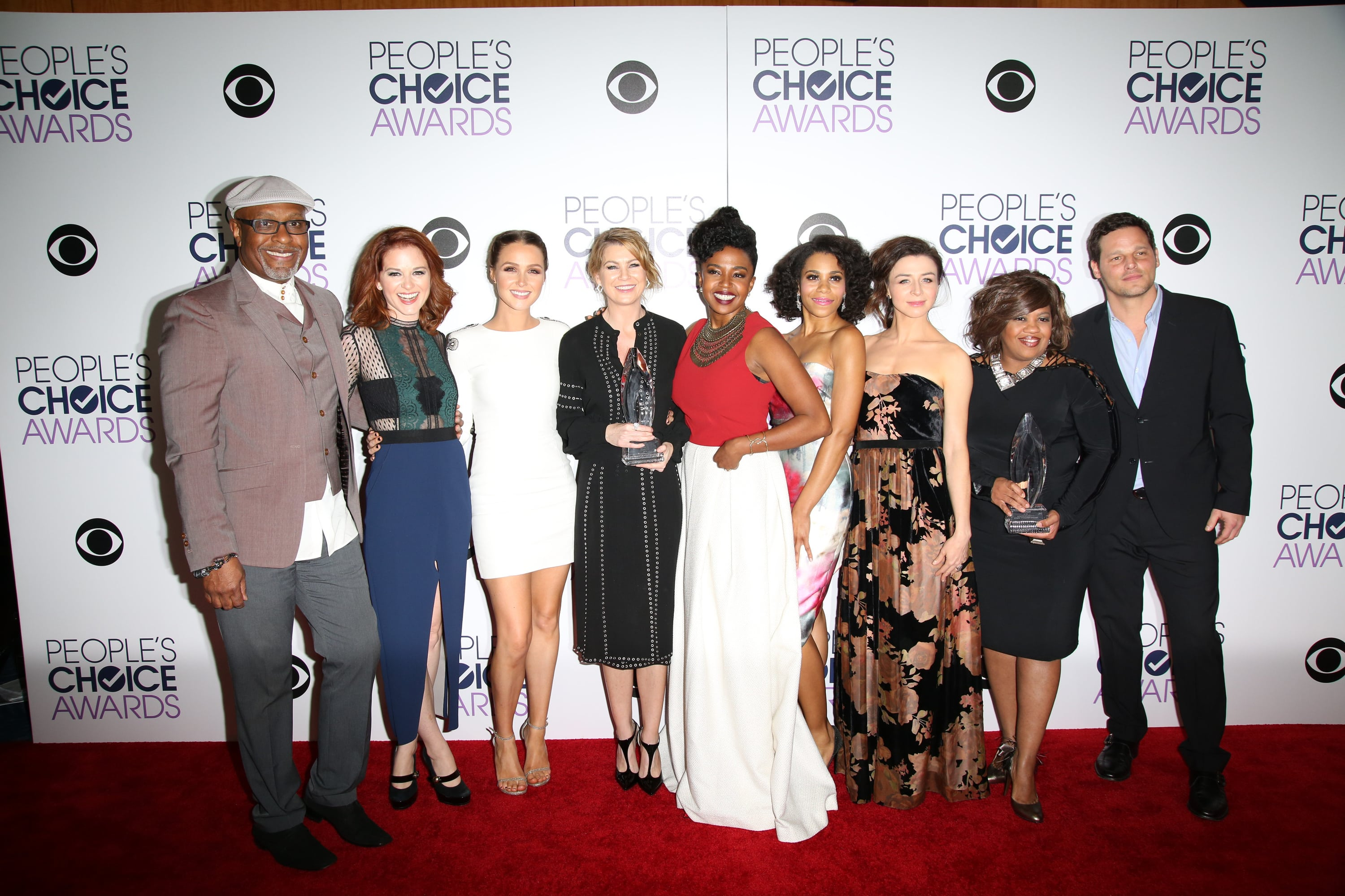 Greys Anatomy Cast 2016 Peoples Choice Awards The Hollywood Gossip