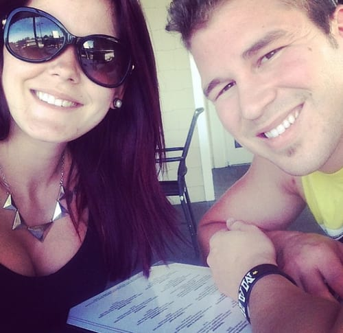 Nathan Griffith, Jenelle Evans Selfie