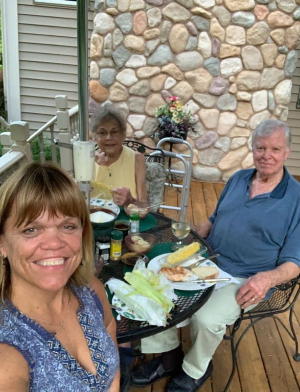 Amy roloff with parents