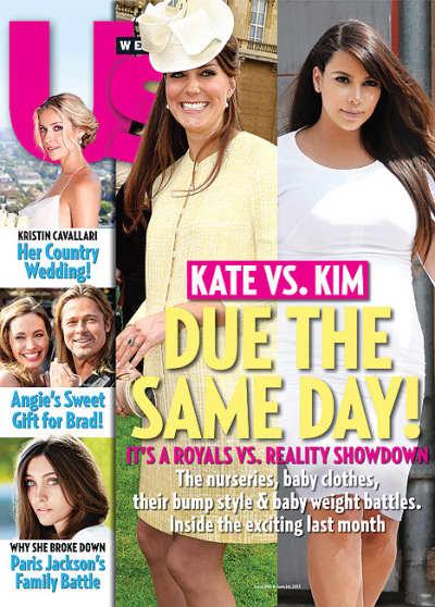 Kate Middleton and Kim Kardashian