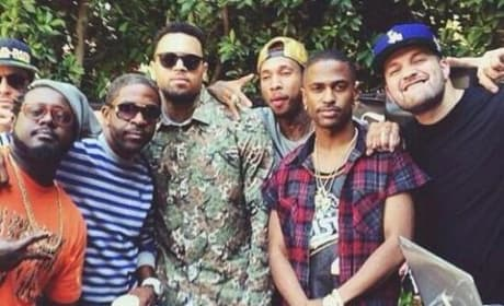 Chris Brown Welcome Home Party Picture
