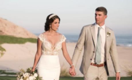 Nicole Johnson and Michael Phelps Wedding Pic