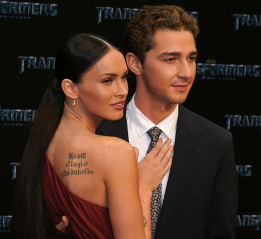 Shia labeouf hookup with megan fox Hookup at wedding