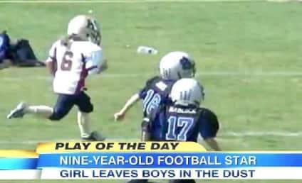 Sam Gordon, 9 Year Old Girl, DOMINATES Boys in Football