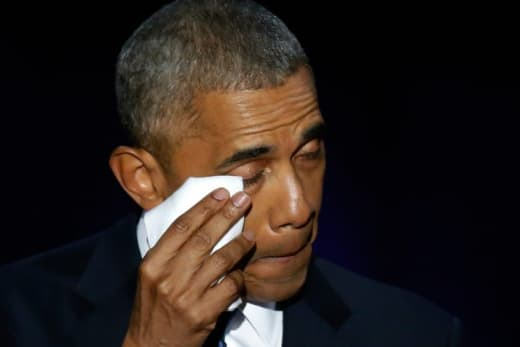 Barack Obama Cries