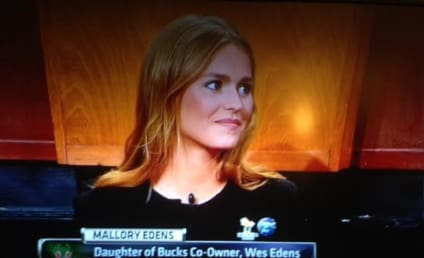 Mallory Edens Represents Bucks at Draft Lottery, Nearly Breaks Twitter