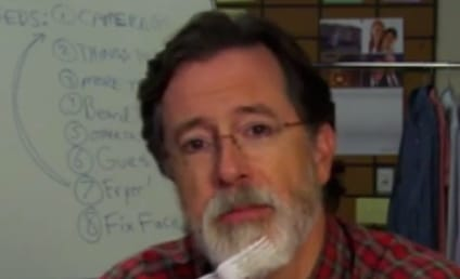"Stephen Colbert Shaves ""Colbeard"" in Preparation for Late Show"
