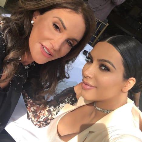 Kim with Caitlyn