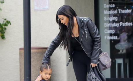 Kim Kardashian Takes North West To Ballet Class