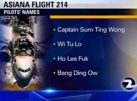 Asiana Pilot Names