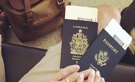 Brooks Laich and Julianne Hough with Passports