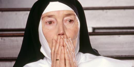 Surprised nun