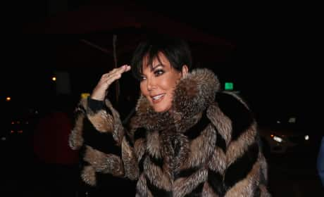 Kris Jenner and Her Coat Celebrate Kyle Richards' Birthday