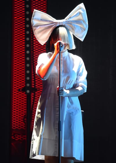 Sia in Her Standard Outfit