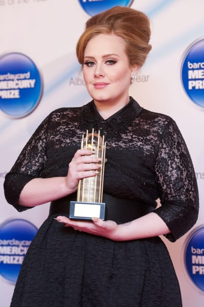 Adele with a Trophy