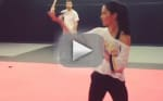 Olivia Munn Trains for X-Men: Apocalypse, Shows Off Sword Skills