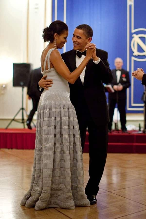 Barack and Michelle Obama Dancing