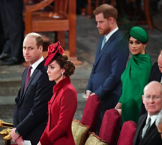 Cambridges and Sussexes In Church
