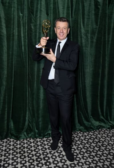 Peter Morgan With The Crown Emmy