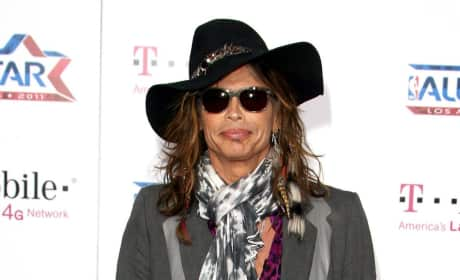Steven Tyler at the All-Star Game