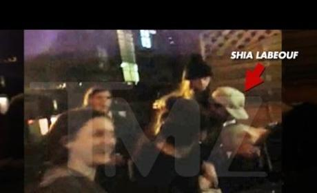 Shia LaBeouf Fights in London