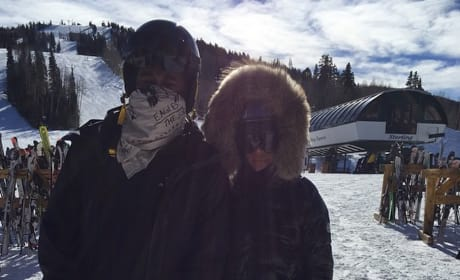 Kimye on the Slopes