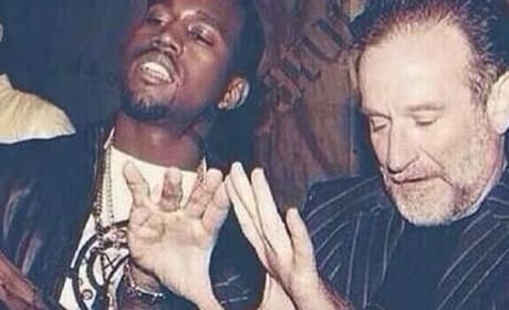 Robin Williams and Kanye West Photo