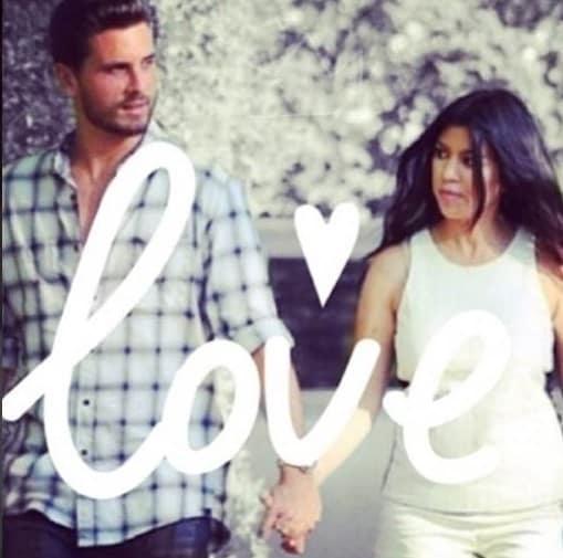 Scott Disick and Kourtney Kardashian: Love!