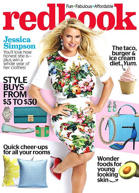Jessica Simpson Redbook Cover