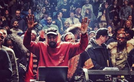 Kanye West at the Yeezy Season 3 show and album premiere