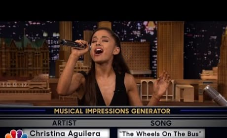 Ariana Grande Impersonates Britney Spears, Christina Aguilera and Celine Dion