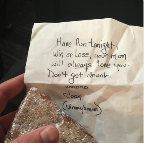 Jimmy Kimmel Mom Sandwich Note