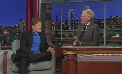 Conan O'Brien and David Letterman Sort of Trash Jay Leno on The Late Show