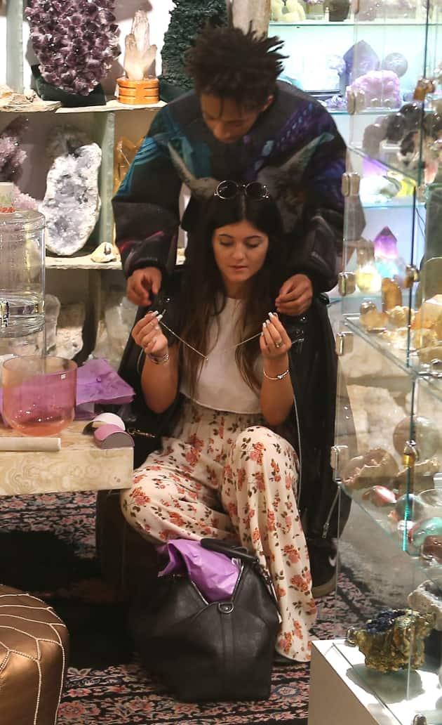 Kylie Jenner with Jaden Smith