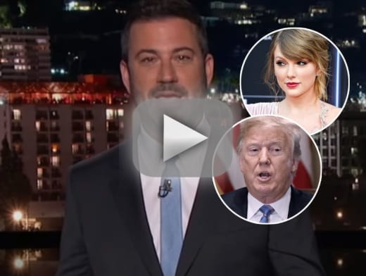 Jimmy kimmel compares donald trump to taylor swift