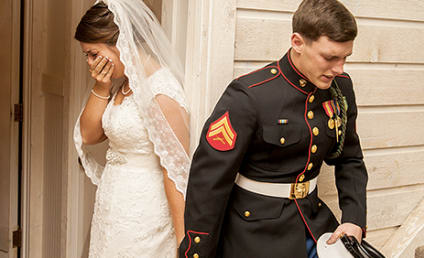 Marine's Wedding Prayer Photo Goes Viral