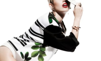 Miley Cyrus Poses with Pot Leaves