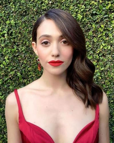 Emmy Rossum, Radiant in Red