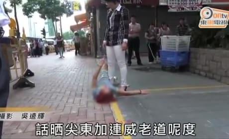 Woman Gets Dumped on the Street, Has Epic Breakdown