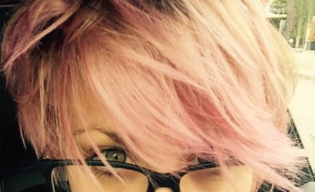 Kaley Cuoco-Sweeting with Pink Hair