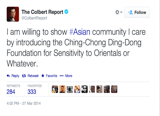 Colbert Tweet