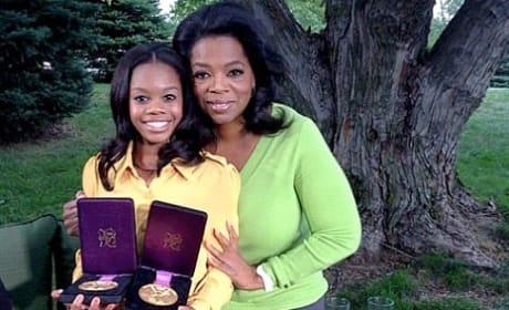 Gabby Douglas and Oprah Winfrey