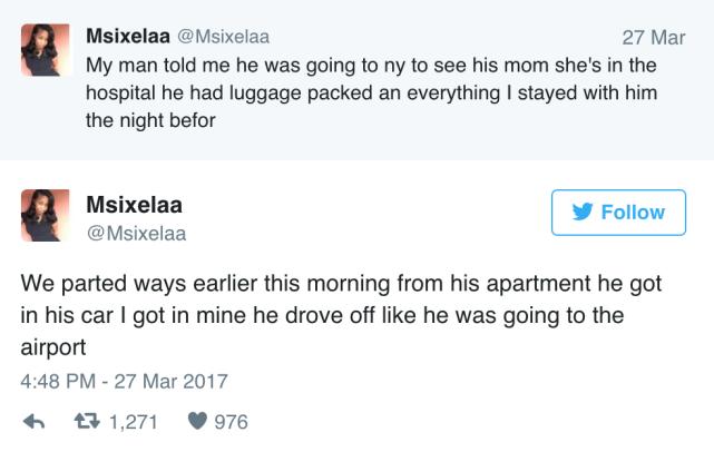 He actually drove away
