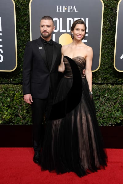 Justin Timberlake and Jessica Biel at the Globes