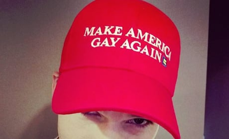 Ashton Kutcher, Make America Gay Again Hat