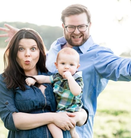 Amy Duggar and Son and Hubby