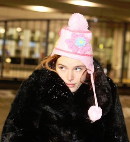 Bella Thorne, Wrapped in Fur